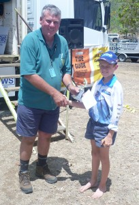 Matthew Smith – Junior Longest Overall Barramundi ($250 sponsored by Gin Gin Newsagency)